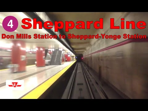 4 Sheppard Line - TTC 1995-2001 Bombardier T1 (Don Mills Stn to Sheppard-Yonge Stn) [Front view]