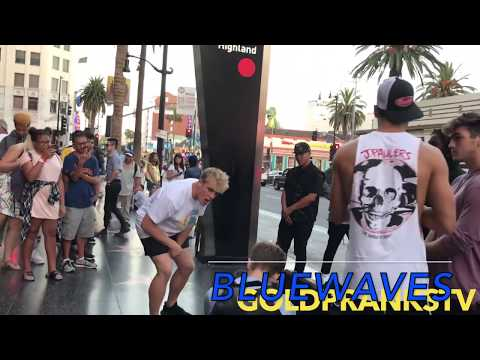 Jake Paul and Team 10 fight fans on Hollywood Blvd
