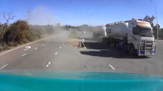 Idiot Truck driver nearly causes huge accident - Dash Cam Owners Australia