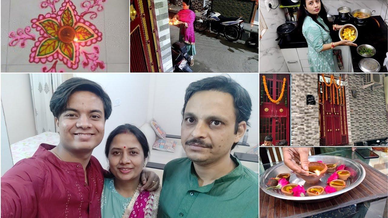 Last minute Diwali Cleaning - Diwali full day vlog