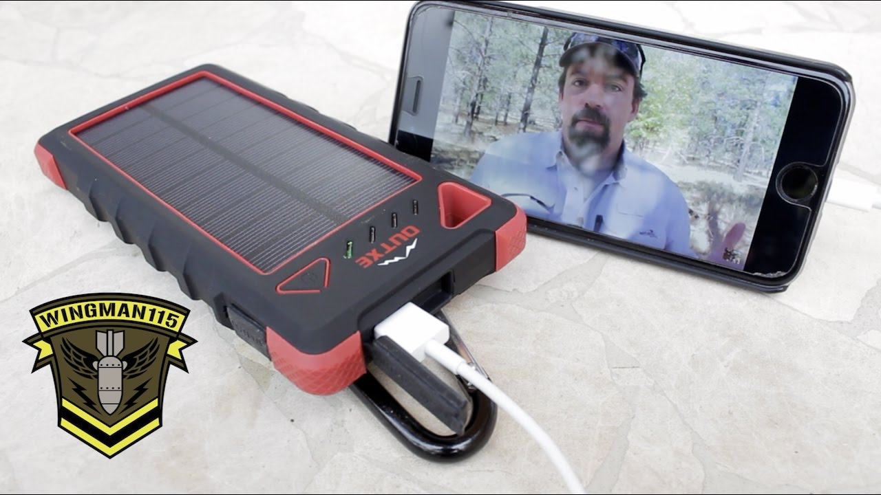 Outxe Mobile Power Supply With Solar Panel Youtube