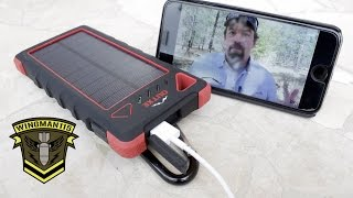 OUTXE Mobile Power Supply with Solar Panel