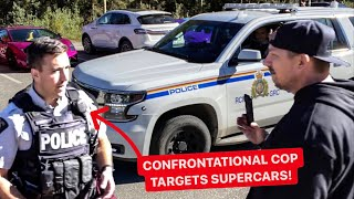 POLICE TARGET LAMBORGHINI OWNER! *CONFRONTATIONAL RCMP*