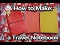 How to Make an Easy Travel Sketchbook/Notebook binder holder/folder/carrier/cover - Midori inspired
