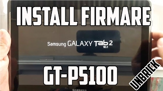 Cómo flashear desbrikear Samsung Galaxy Tab 2 10.1 GT-P5100. Actualización de software 2017.