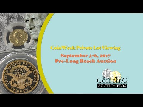 CoinWeek: Private Lot Viewing: Goldberg Auctioneers' September 2017 Pre-Long Beach Sale - 4K Video