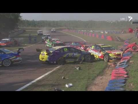 V8 Supercars 2013 - First Lap Crash (Race 3, Hidden Valley)