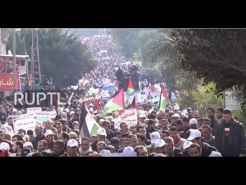 State of Palestine: UNRWA staff hold mass protest against Trump funding cut