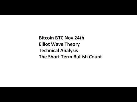 Bitcoin BTC Nov 24th Elliot Wave Theory Technical Analysis - The Short Term Bullish Count