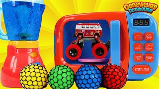 Toy Learning Video for Toddlers Learn Colors with Toy Cars, Monster Trucks, and Gumballs!