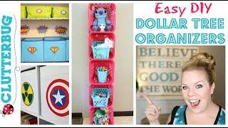 Easy Diy Dollar Tree Organizer   How To Make A Storage Shelf