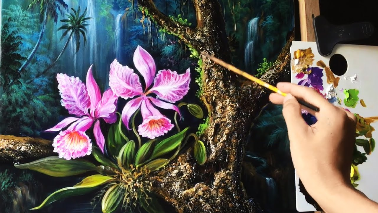 How To Paint Flowers With Acrylics Step By Step Beginners