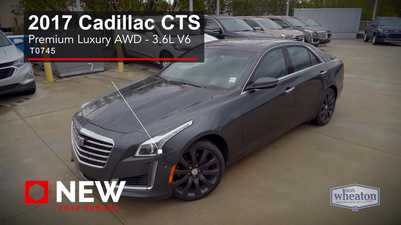 2017 Cadillac Cts 3 6 L Premium Luxury >> 2017 Cadillac Cts Sedan Premium Luxury Awd Walkaround