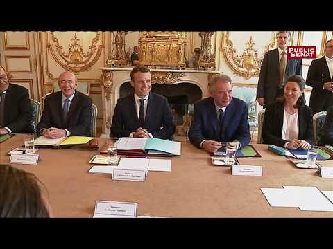 Le premier conseil des ministres d'Emmanuel Macron