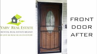 LIKE OUR PAGE! www.facebook.com/yarvrealestate/ Front & Back Screen Door Upgrade Before & After by t