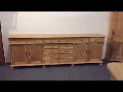 Very Long Sideboard  - Pinefinders Old Pine Furniture Warehouse
