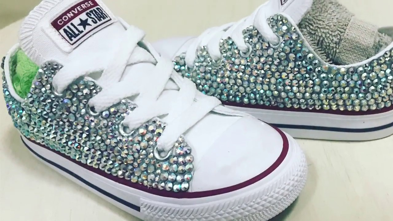 da1605647 How To Add Swarovski Crystal Bling To Converse - YouTube