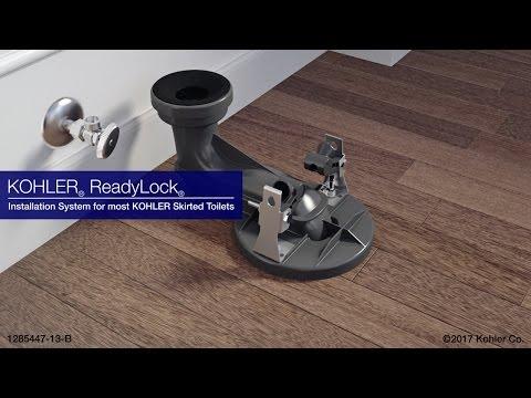 Quick Skirted Toilet Installation: KOHLER ReadyLock