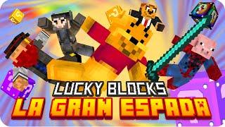 LA GRAN ESPADA! | Minecraft Lucky Blocks Pink - Exo, Gona, Sara, Macundra y Luh