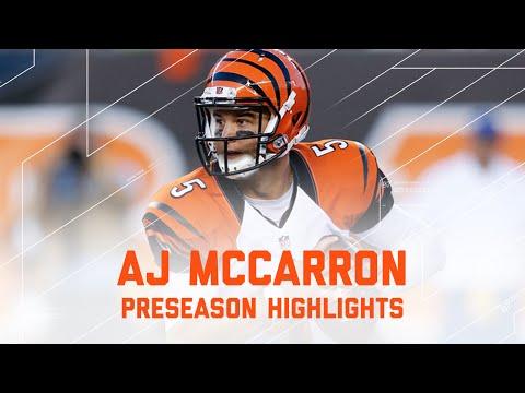 AJ McCarron Highlights | Vikings vs. Bengals | NFL