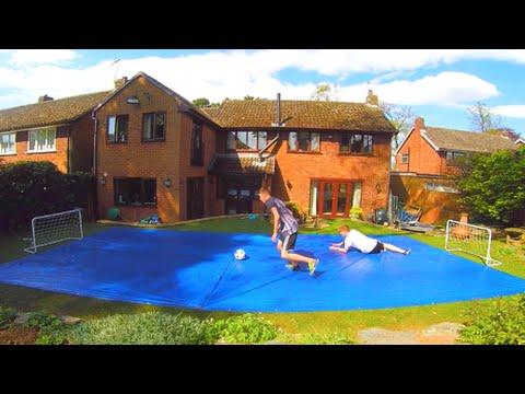 Backyard SLIP 'N' SLIDE Panna Match!! - YouTube