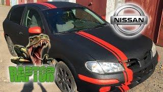 Полная покраска Nissan Almera в Raptor U-POL цвет черный