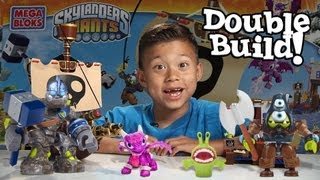 Crusher's Pirate Quest - Skylanders Mega Bloks Set 95442 - Drop Test Double Time-lapse Build