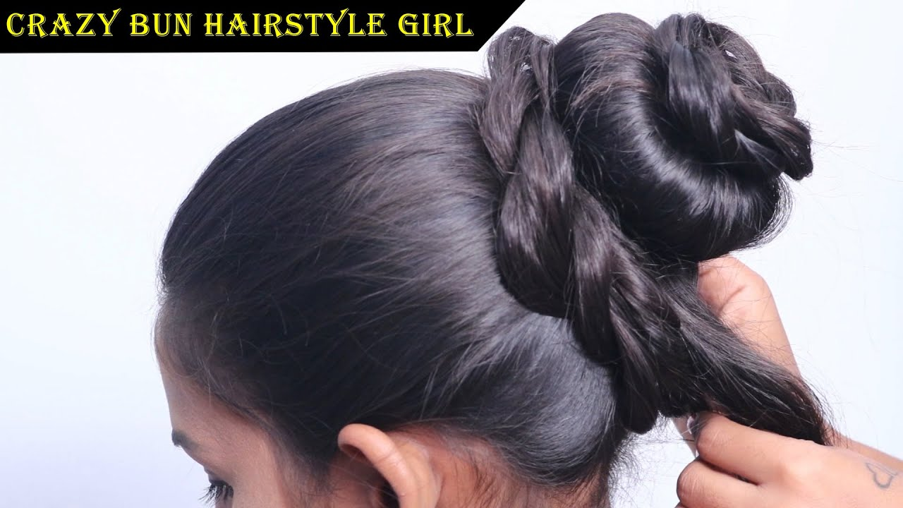 Crazy Bun Hairstyles In 3 Easy Steps Mystyle Hair Styles Long Hair Styles Hair Style Girl Youtube