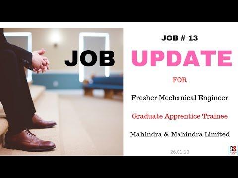 JOB UPDATE 13 - Fresher Mechanical Engineer [ Graduate Apprentice Trainee ]_Jan'19
