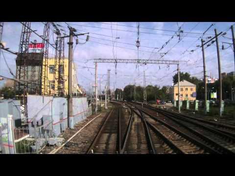 Рыбное - Рязань 2 - Пост 204 км из окна хвостового вагона поезда №104