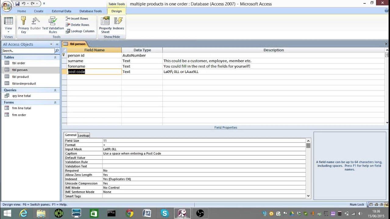 Input mask validating type