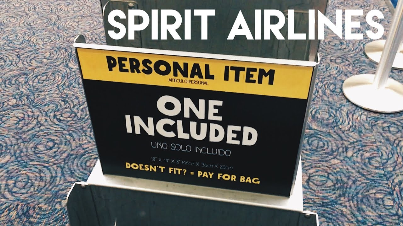 Spirit Airlines Free Personal Item New Size 2017