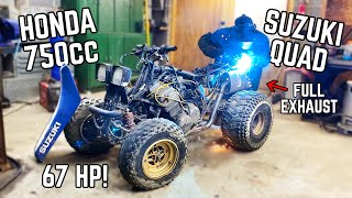 "Our ABANDONED ""Honduki"" 750cc Quad Preps for a FULL SEND! Exhaust Build, Clutch Rebuild + More!"