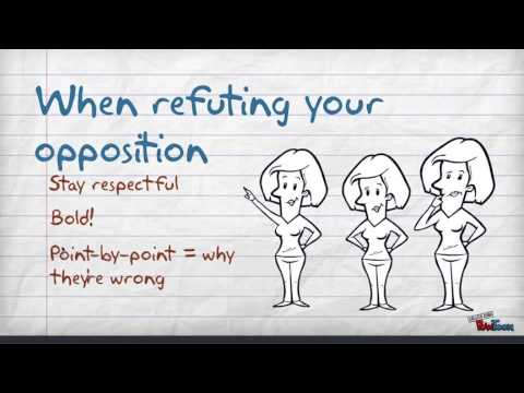 Видео What is a rebuttal in an argumentative essay