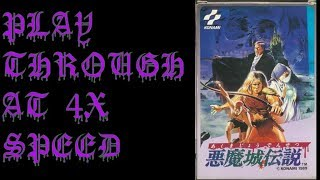 Castlevania 3 (Japanese Version) Playthrough at 4X Speed - BAC Gaming Fourplays