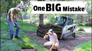 How to Install Sod - MISTAKES - Things you Don