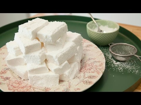 HOMEMADE MARSHMALLOWS (NO CORN SYRUP & NO THERMOMETER)