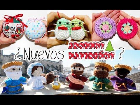 Tutorial De Amigurumis Navideños : Nuevos adornos navideños tutoriales amigurumi crochet ganchillo