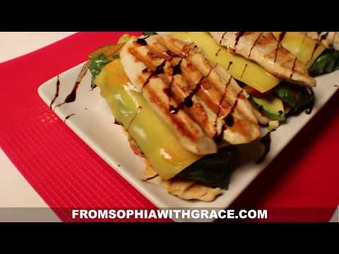 Chicken Breast Burger with Avocado and Cheddar Cheese // Healthy Recipe From Sophia with Grace