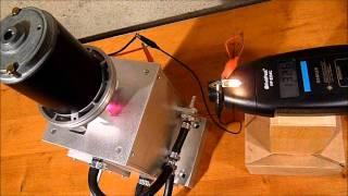 Tesla Turbine - Test 2: Drehzahlmessung mit Generator (Druckluft)