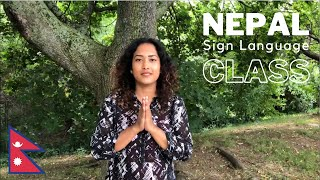 Learn NEPAL Sign Language with Sonam!   Online Class