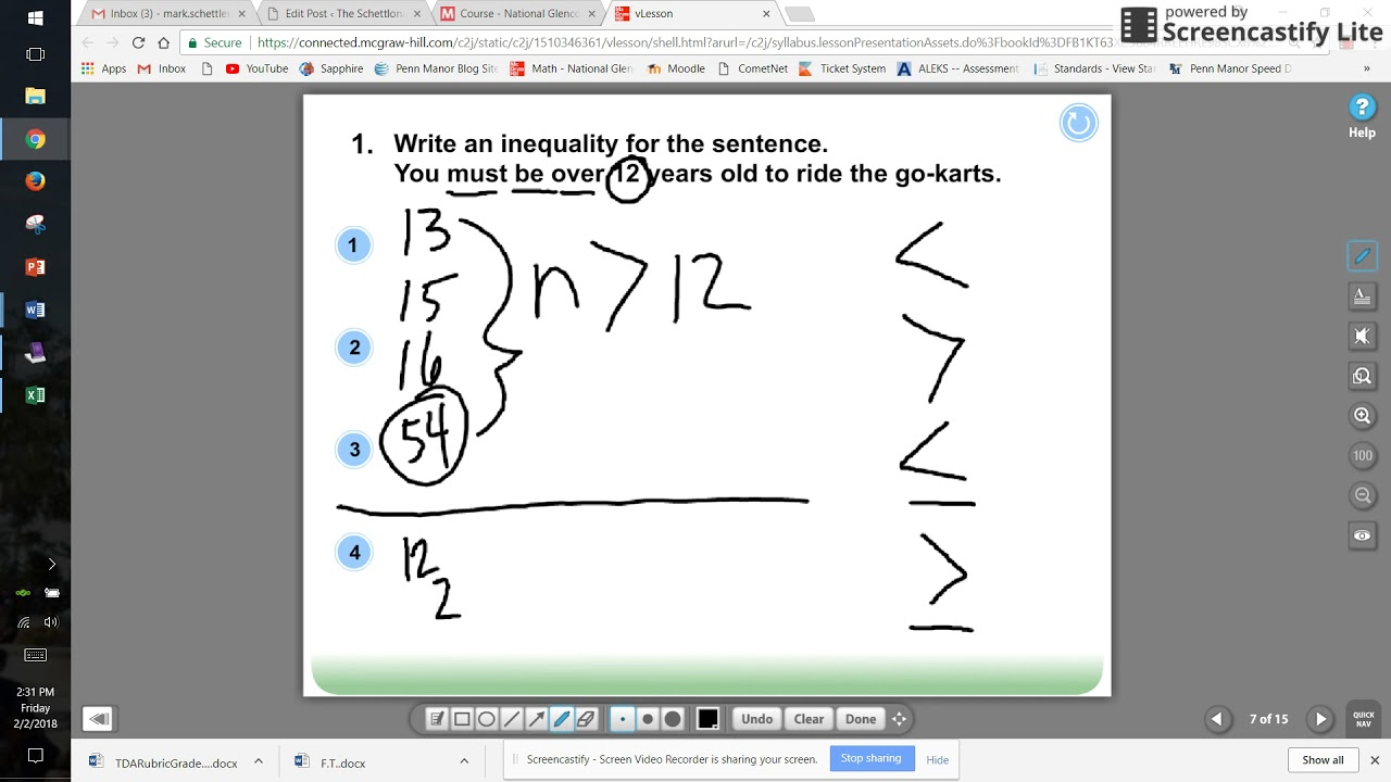 writing and graphing inequalities  youtube