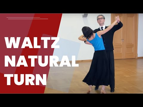 Natural Turn - Waltz dance Lesson (International Style)