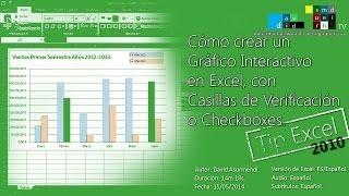 Crear Gráficos y Gráficas Interactivos en Excel 2010 con Casillas de Verificación o Checkboxes. thumbnail
