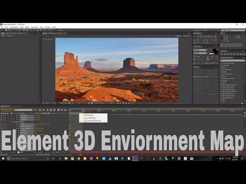 Element 3D Enviornment Map Import Tutorial