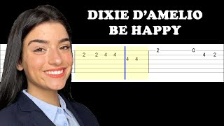 Dixie D'Amelio - Be Happy (Easy Guitar Tabs Tutorial)