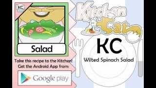 Wilted Spinach Salad - Kitchen Cat
