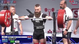 Brett Gibbs - 830.5kg 1st Place 83kg - IPF World Classic Powerlifting Championships 2018