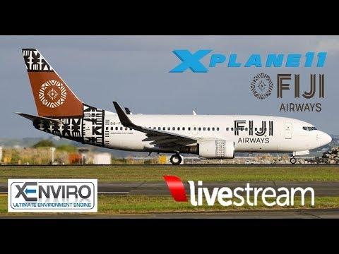 X-Plane 11 | B733 | VATSIM | NFFN( FIJI )- NZAA(AUCKLAND)- NFFN( FIJI ) PART 1