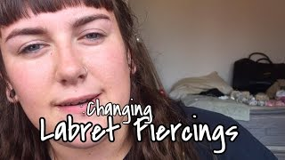 Changing Piercings: Labret